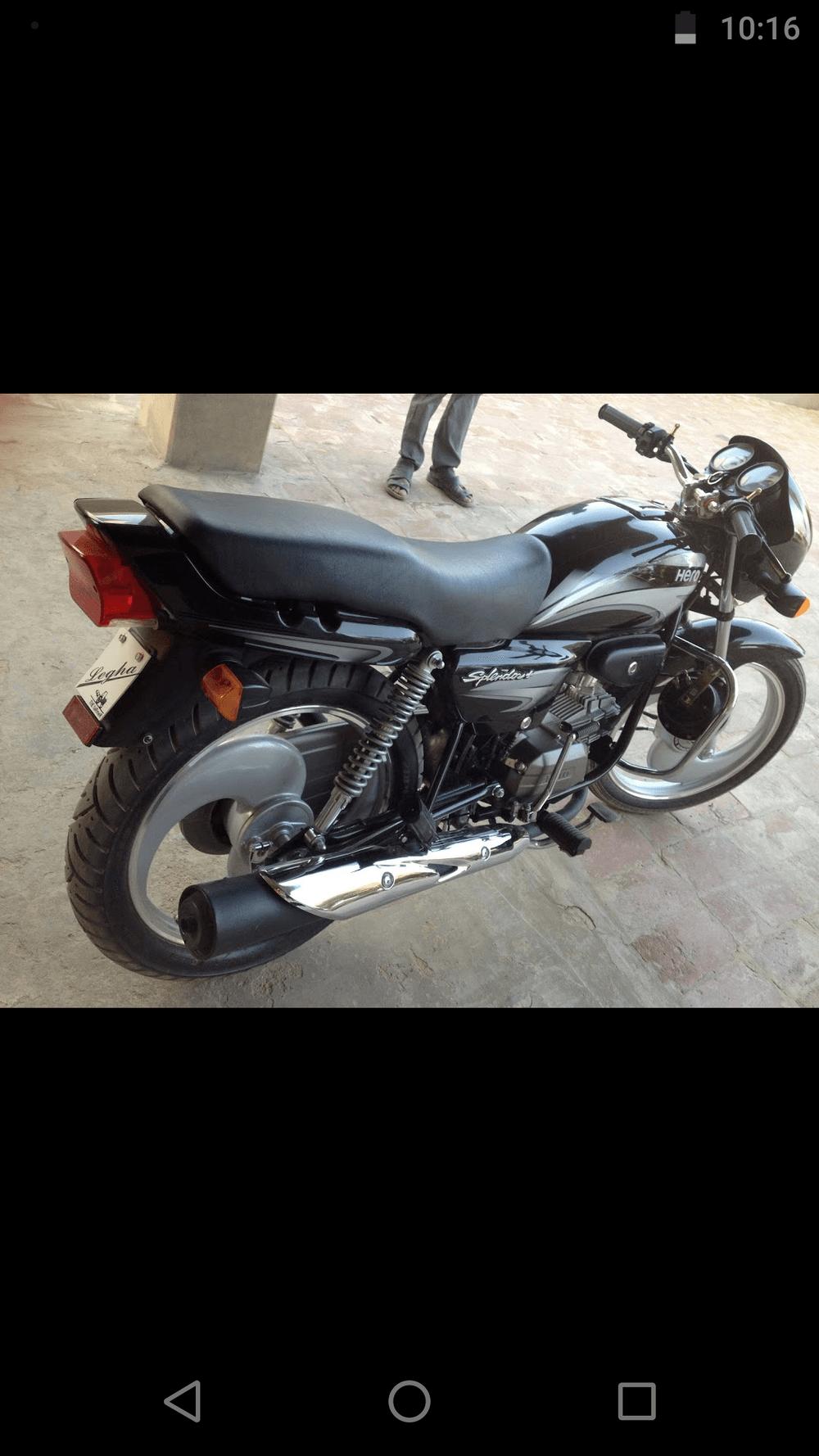 Used Hero Splendor Plus Bike In Ganganagar 2015 Model India At Best Honda 2014 Rear View
