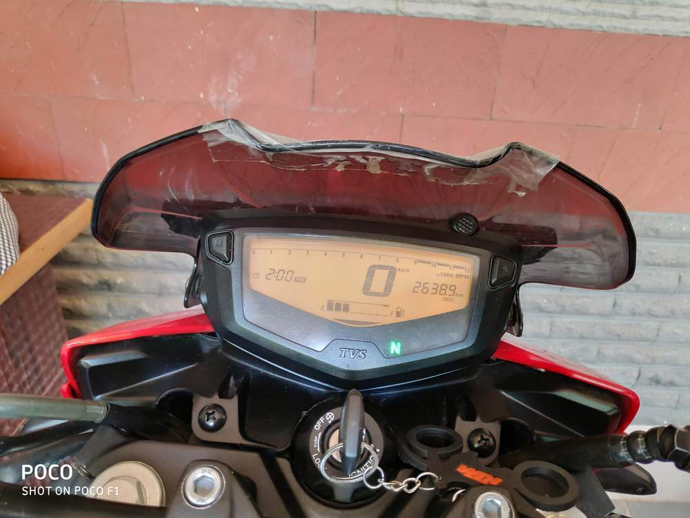 Tvs Apache Rtr 160 4v Rear View