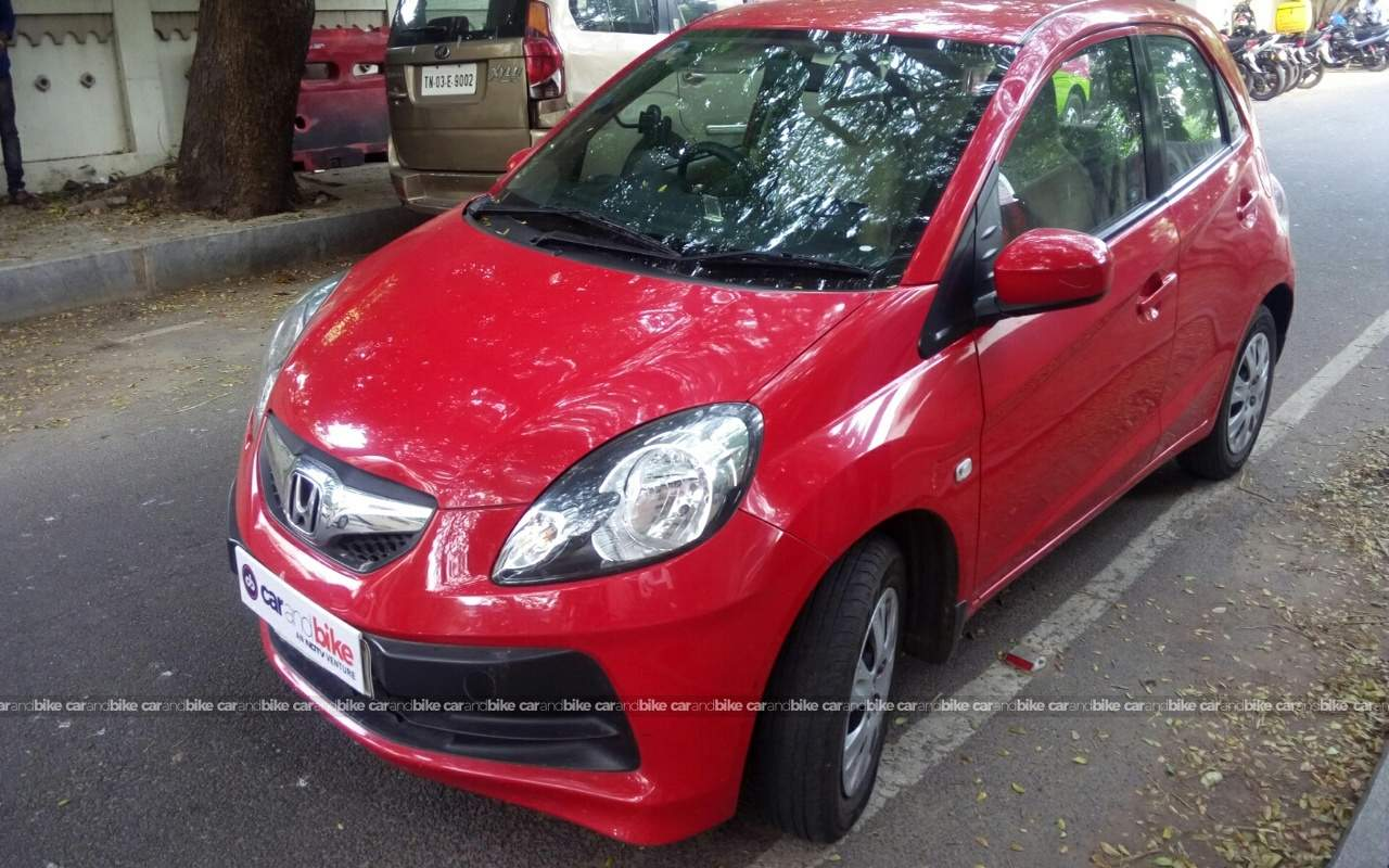 Used Honda Brio S Mt Petrol In Chennai 2014 Model India At Best Front View Bikes Left Side Angle