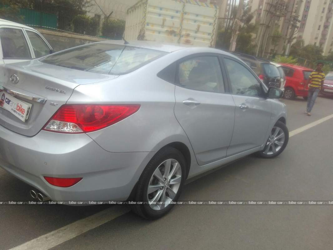 Used Hyundai Verna 16 Vtvt Sx 2010 In Gurgaon 2012 Model India Wiring Diagram Rear Right Side Angle View