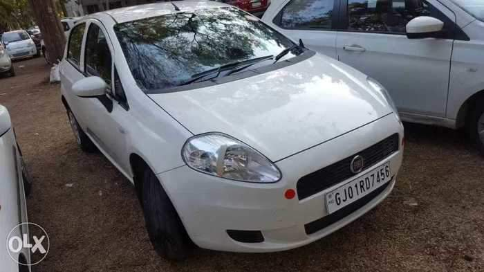 Used fiat grande punto 12 active in ahmedabad 2013 model india fiat grande punto rear left side angle view sciox Gallery