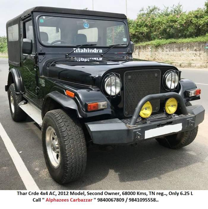 Used Mahindra Thar Crde 4wd Ac In Chennai 2012 Model India At Best