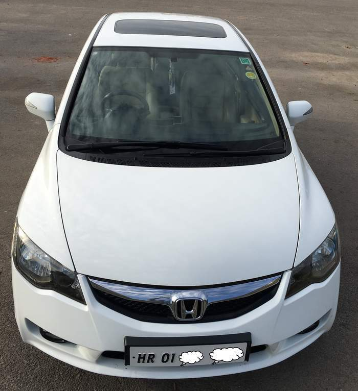 Used honda civic 1 8 v mt sunroof in ambala 2011 model for Honda civic sunroof